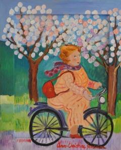 Cykeltur pÜ lila cyckel 41x33